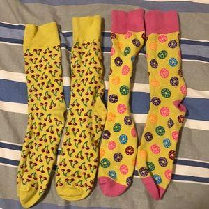 Cherry and Donut Socks
